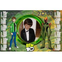 Ben 10 kalendoriaus maketas