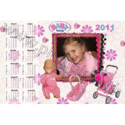 Baby Born kalendoriaus maketas