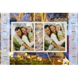 Kalėdinis2 kalendoriaus maketas