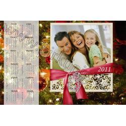 Kalėdinis3 kalendoriaus maketas
