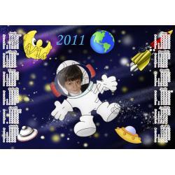 """Kalendoriaus maketas """"Kosmosas"""""""