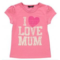Rožiniai marškinėliai trumpomis rankovėmis