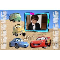 Disney Cars kalendoriaus maketas