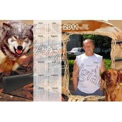 """Kalendoriaus maketas """"medžioklė"""""""