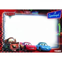 Disney Cars sieninis plakatas piešimui vandeniu (Įlenkta pakuotė)
