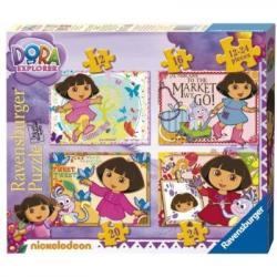 4 dėlionės su Smalsute Dora
